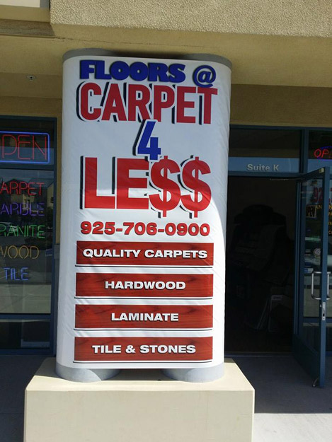 Carpet 4 Less Sign